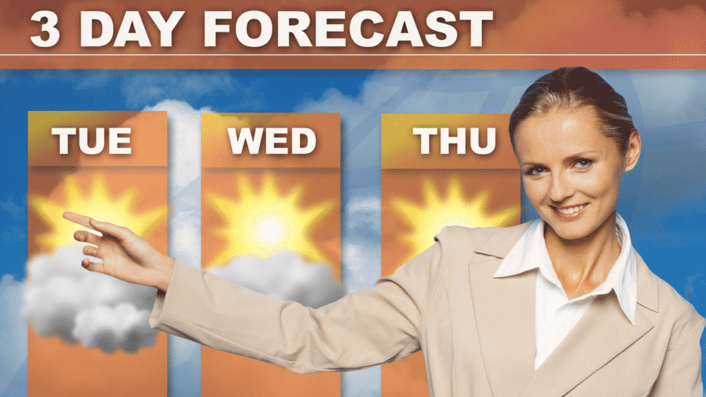 Check The Weather For Rain Weather Woman with 3 Day Forecast