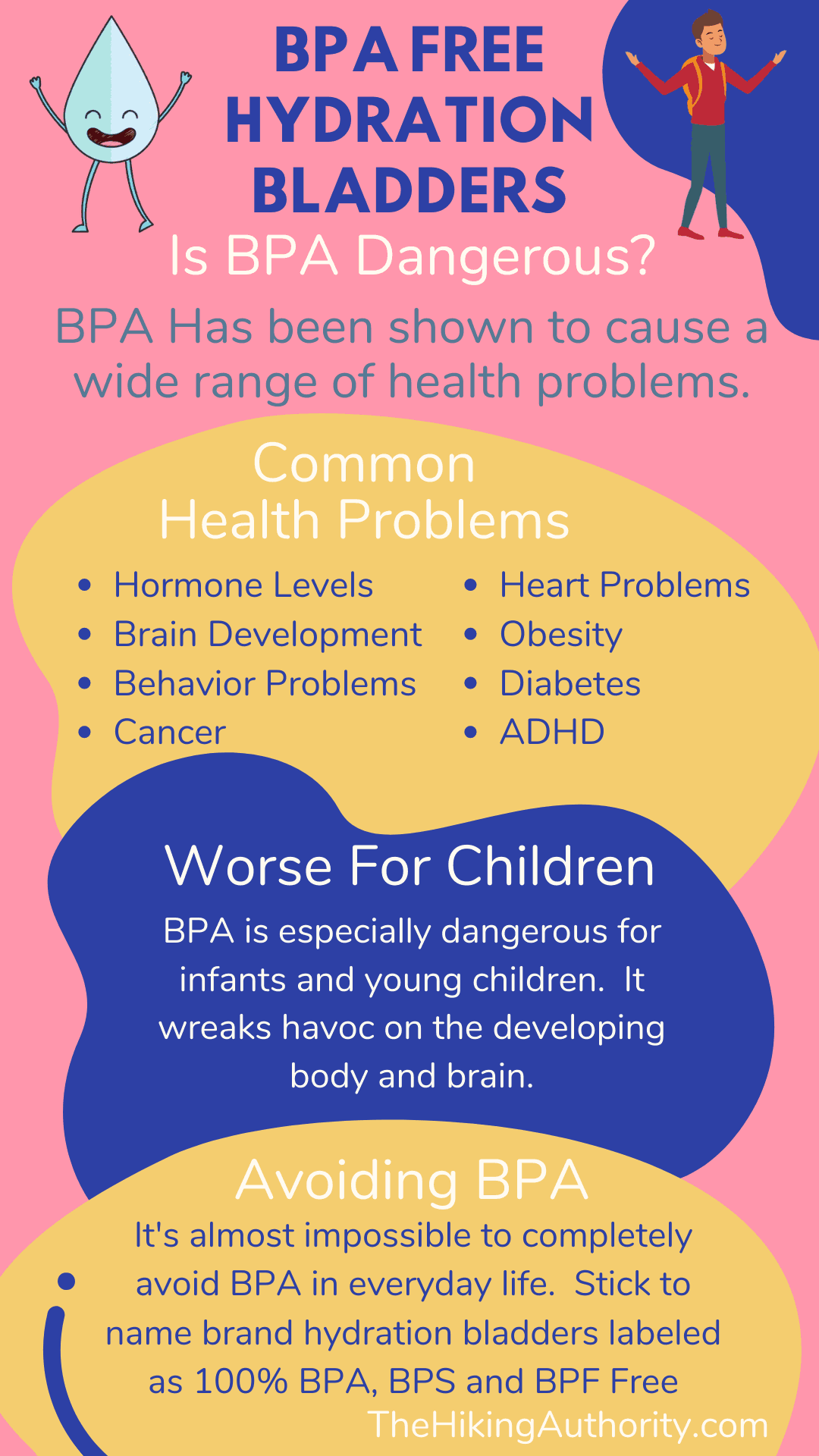 BPA Free Hydration Bladder infographic explaining dangers of BPA